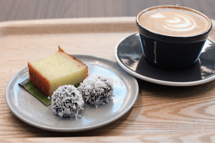 Singapore coffee shop with peranakan dessert