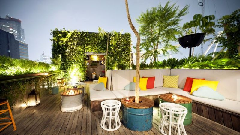 One of the best rooftop garden at The Awan Lounge Jakarta