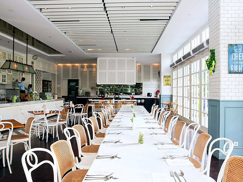 Bright and spacious restaurant by Wyl's Kitchen Jakarta