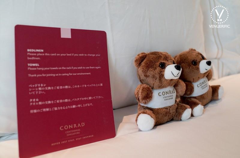 cute teddy bear conrad centennial singapore