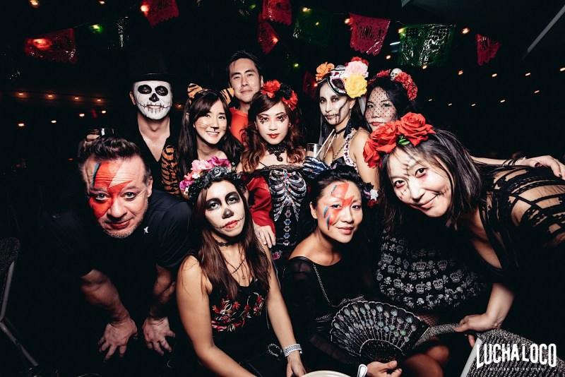 black red halloween theme party singapore