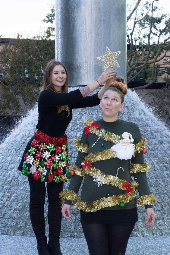 fun christmas game human christmas tree