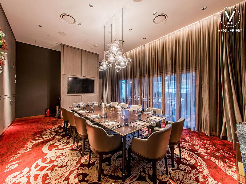 beautiful chandelier and modern interior
