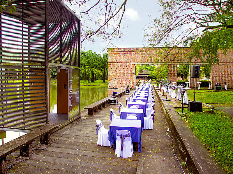 Outdoor event space with dining area Kuala Lumpur