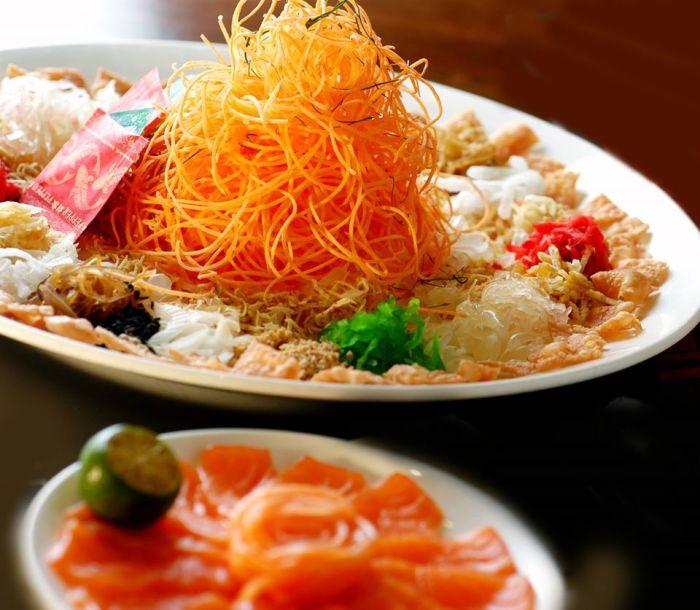 Yusheng for Chinese new year celebration in Singapore