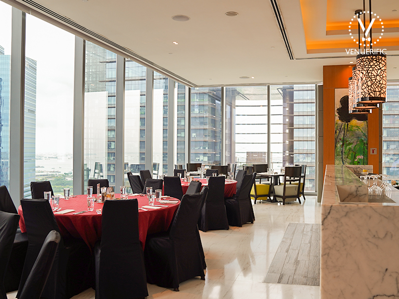 area for group booking with marina bay view