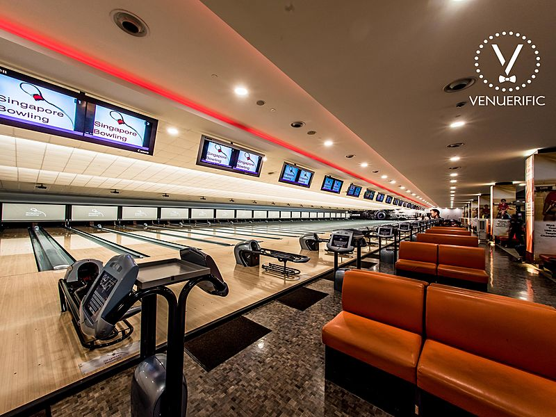biggest bowling arena in Singapore