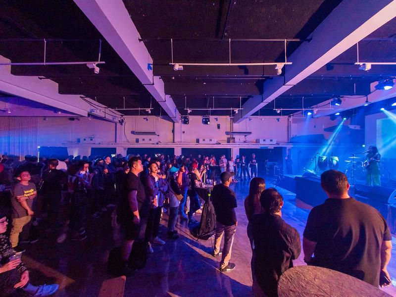 Mesmerised crowd at 222 Arts Club