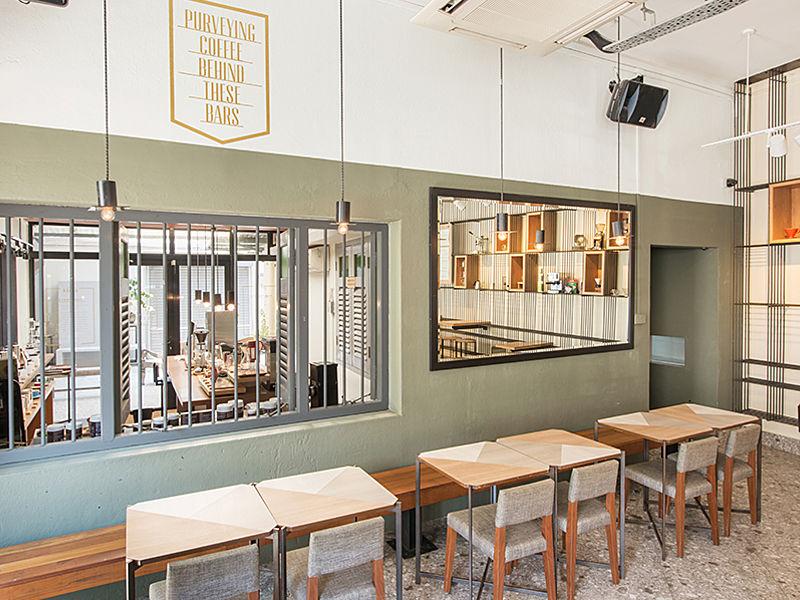 Cosy interior of CSHH Coffee Bar