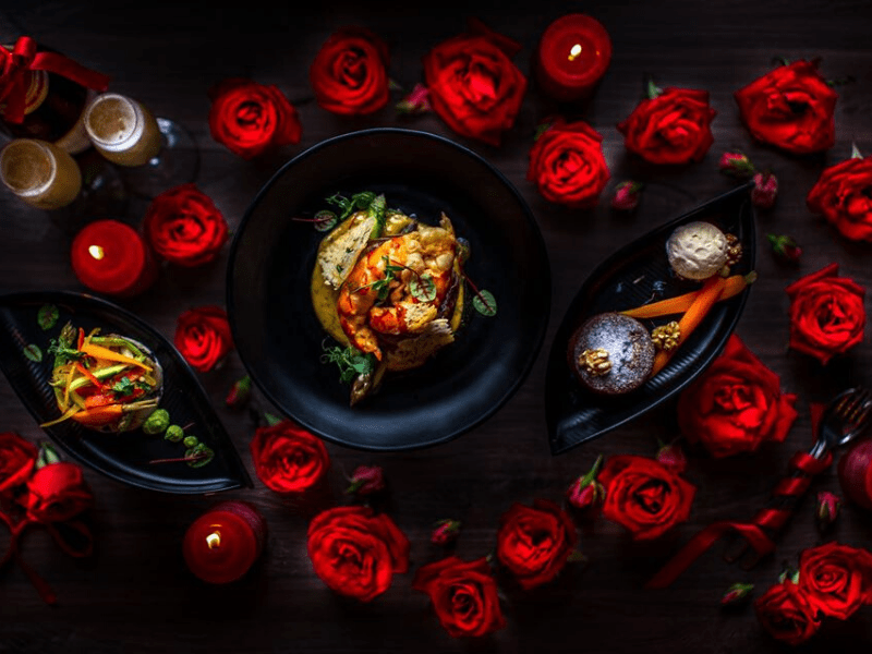 Valentine's Day meal for Beast and Butterflies