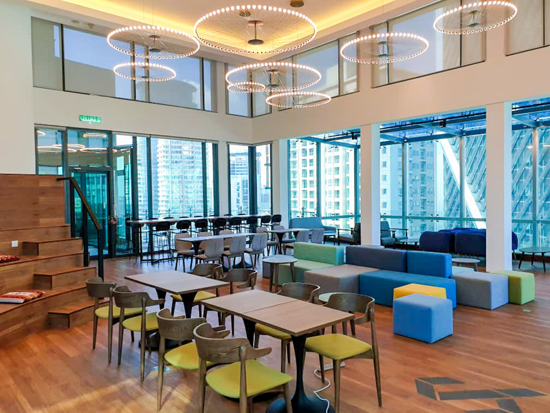 Coworking space in a highrise building
