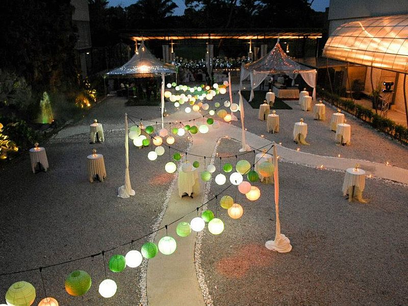 nighttime at a wedding event space kl