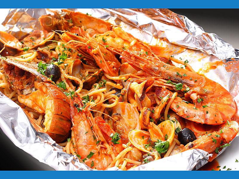 tasty prawns at Al Forno Restaurant