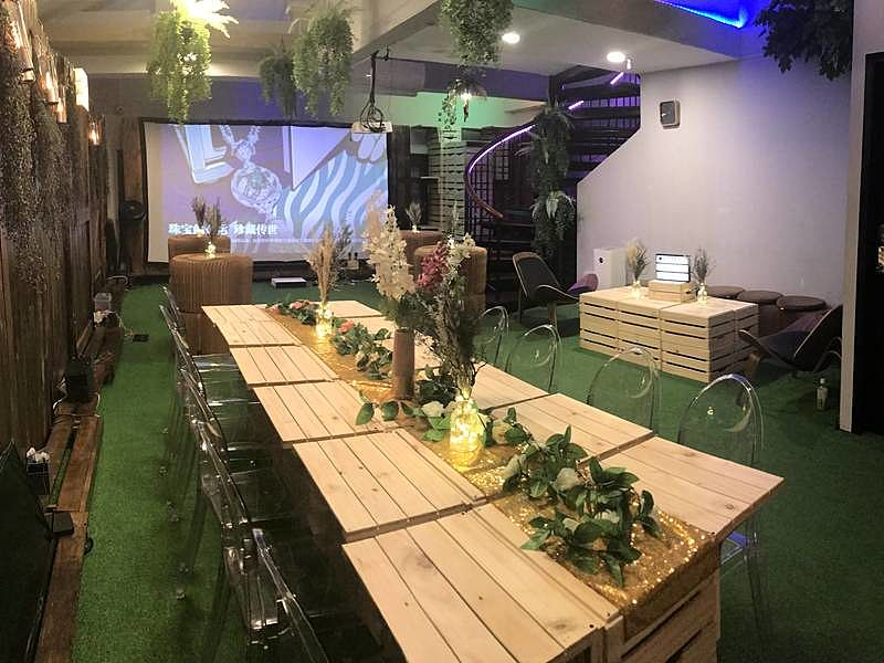 garden-themed event space