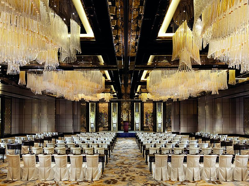 luxurious diamond ballroom at ritz carlton hong kong