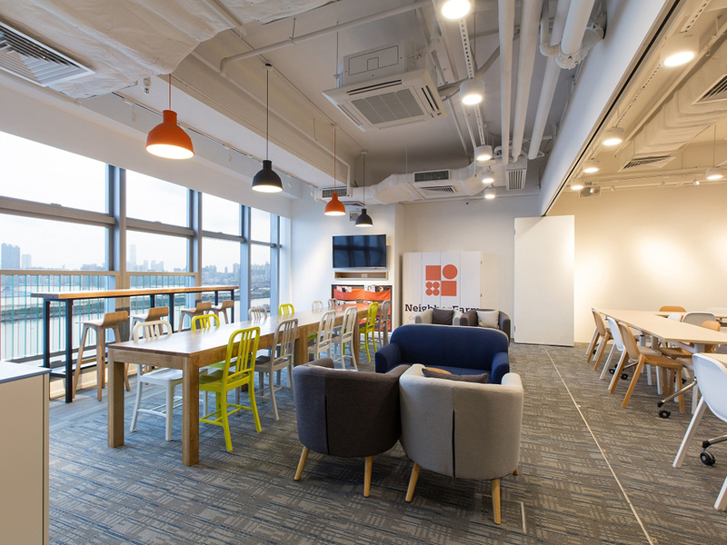 coworking space area that might be used as an event space