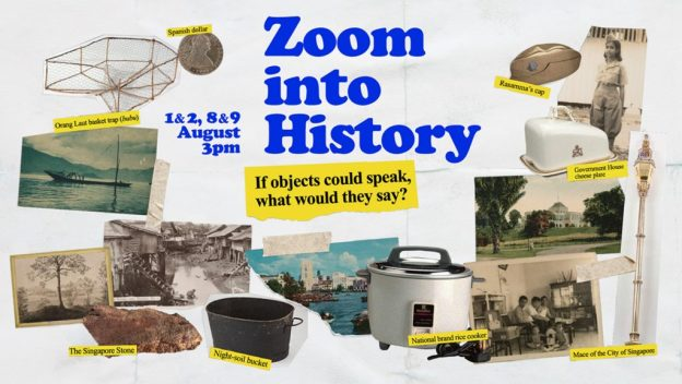 zoom into history event featuring the artefacts