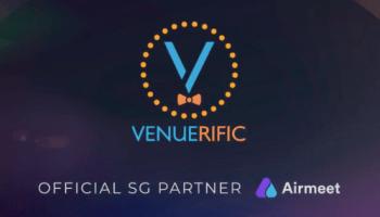 Venuerific logo; Airmeet logo