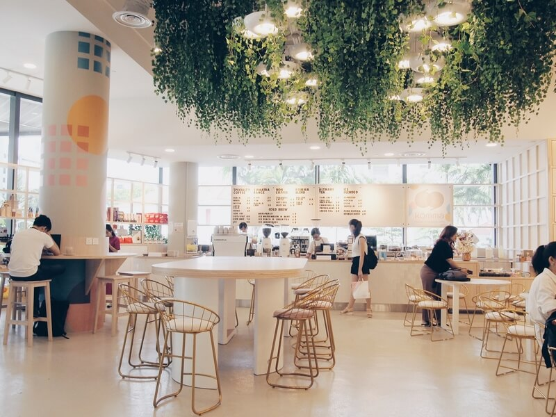 cafe with lots of greeneries