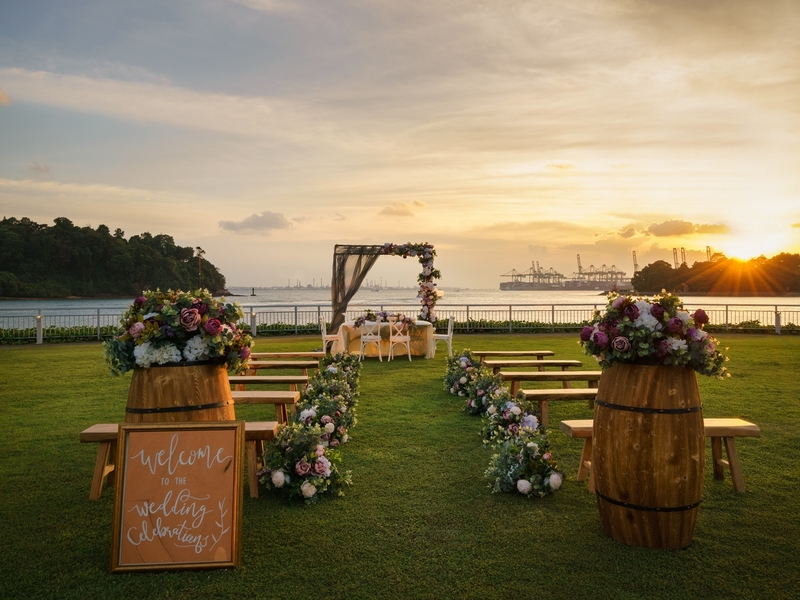 singapore garden wedding venue with sea view