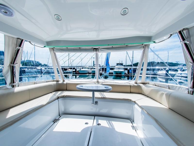 lounge sofa in yacht