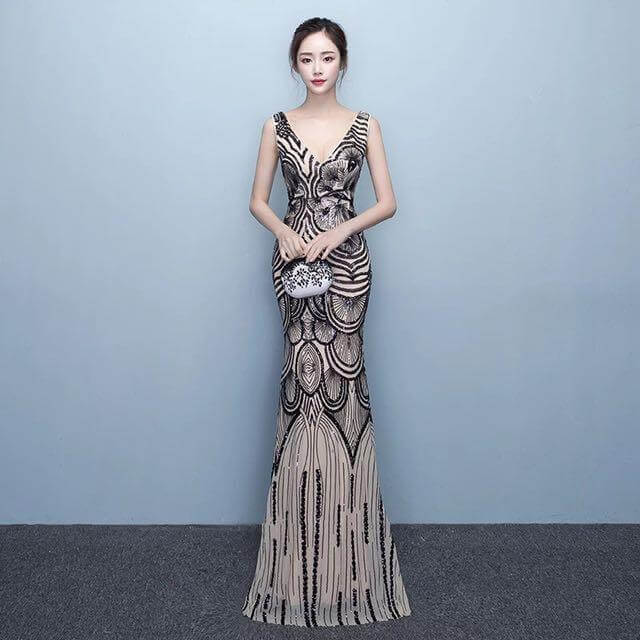 lady in a formal dress