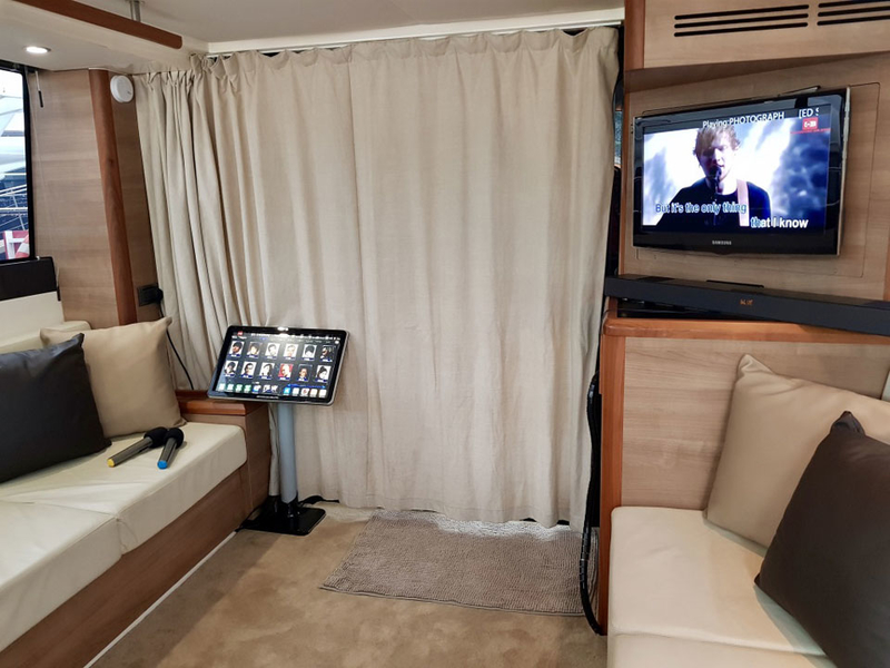 Private Karaoke space inside a boat