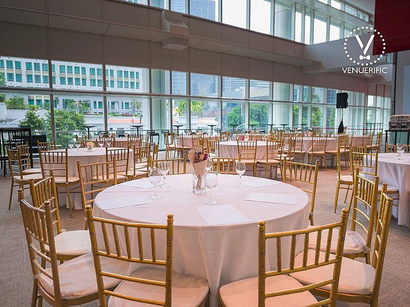 wedding venue in a library
