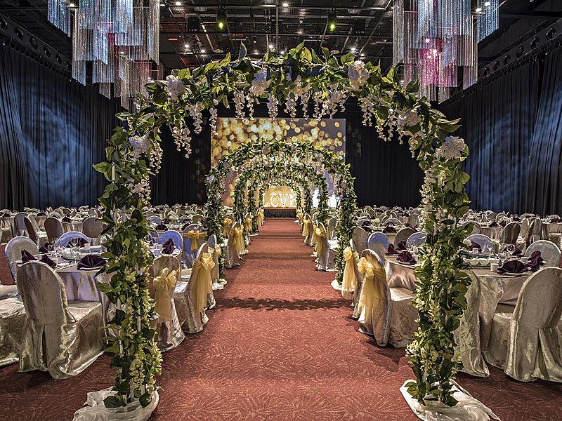 wedding hall decorated