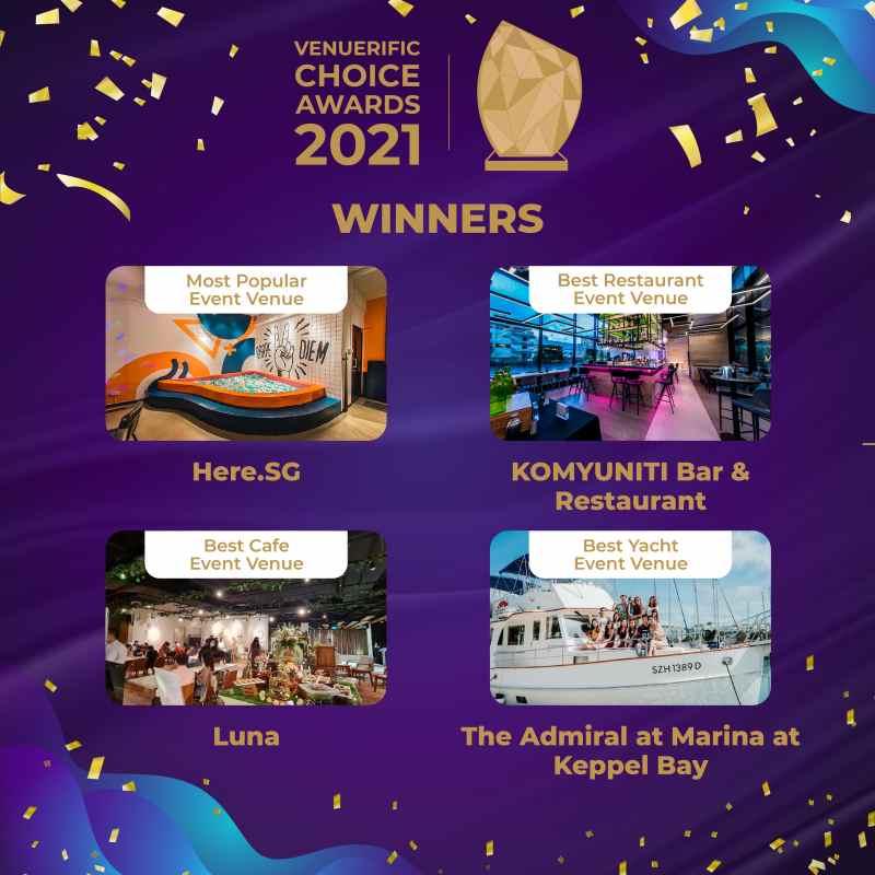 Venuerific Choice Awards 2021 winners (voters pick)