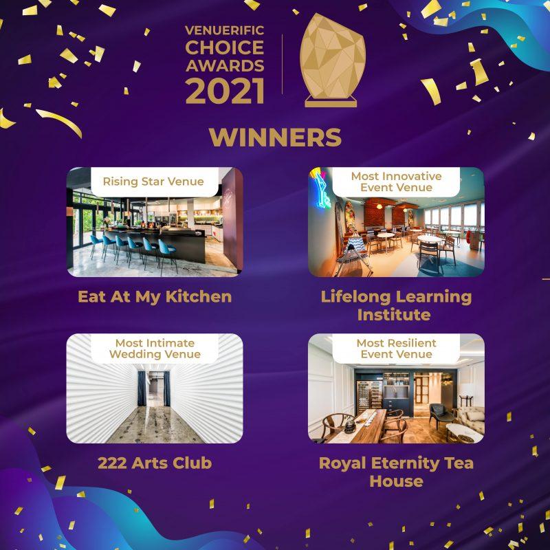 Venuerific Choice Awards 2021 winners (venuerific's pick)
