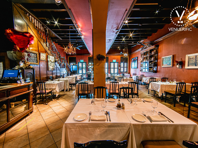 5 pax pasta brava restaurant with tables and chairs for dining