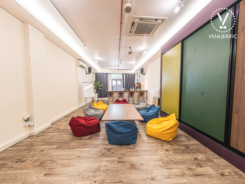 Corporate Event Venue with beanbags for training