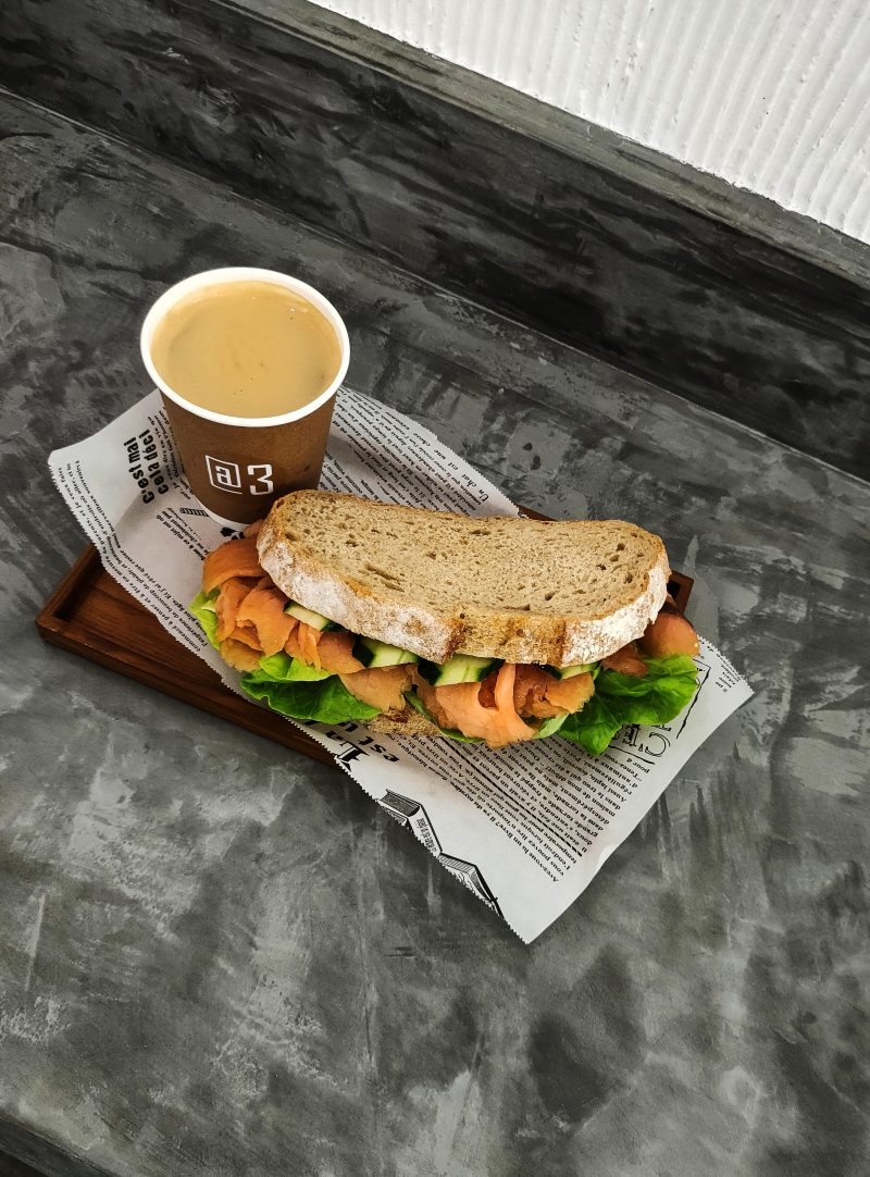 @3 coffee and sandwich #StayHome