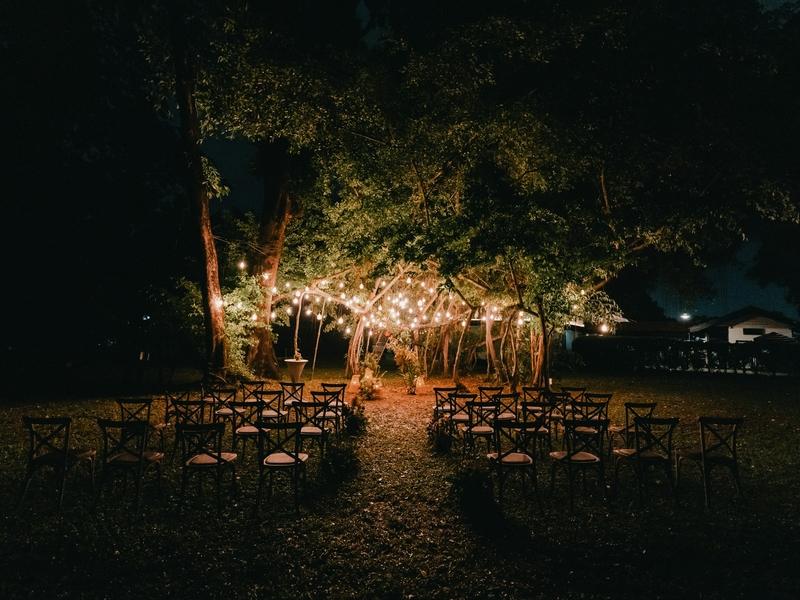 Best Wedding Venue outdoor solemnisation night
