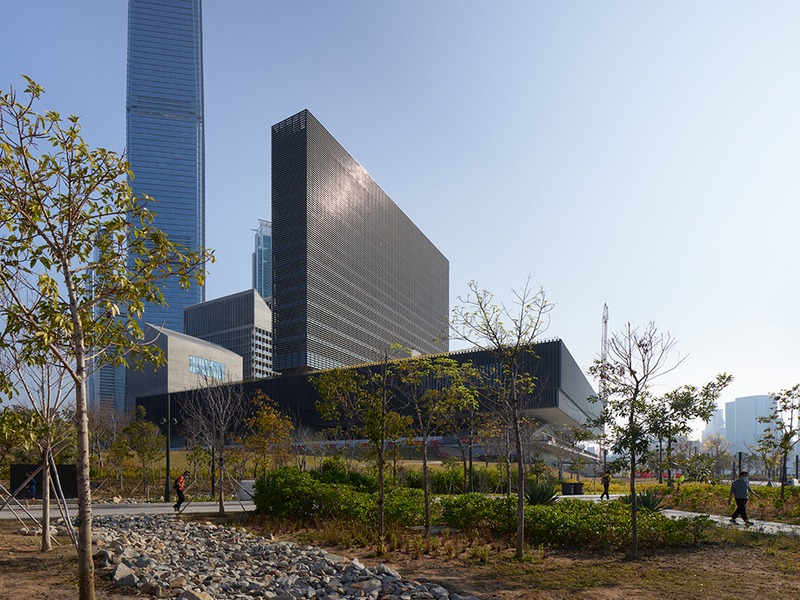 modern buildings surrounded by lush greeneries