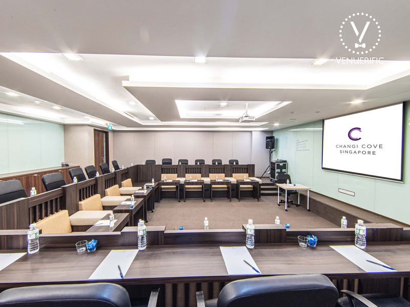 Corporate event private room with projector for seamless workshops and meetings