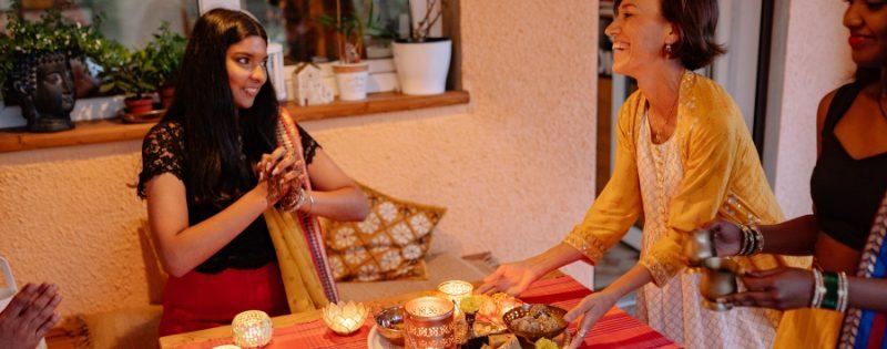 girls celebrating deepavali
