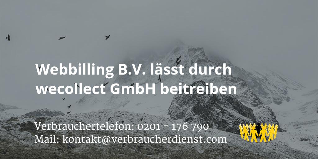 Beitragsbild: Webbilling B.V. lässt durch wecollect GmbH beitreiben