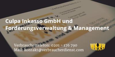 Beitragsbild: Culpa Inkasso GmbH und Forderungsverwaltung & Management