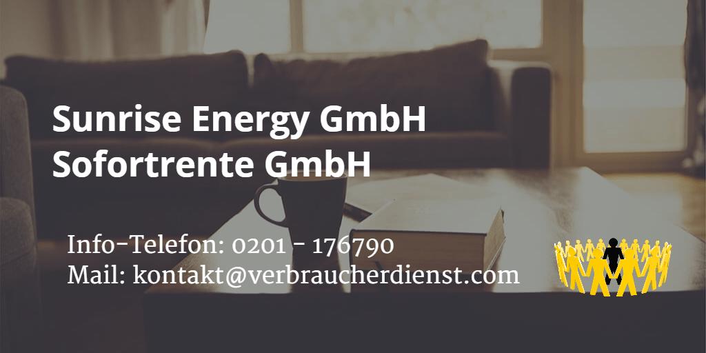 Beitragsbild: Sunrise Energy GmbH | Sofortrente GmbH