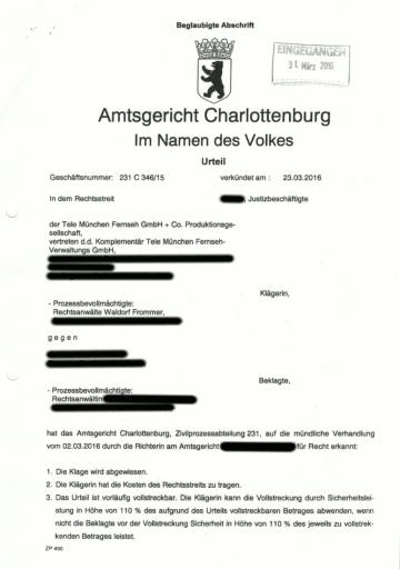 Bild AG Charlottenburg Urteil Filesharing