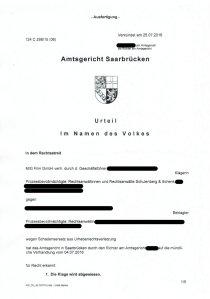 Bild Schulenberg und Schenk Klage