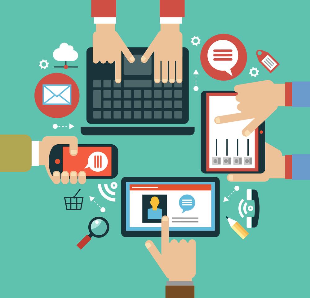 digital marketer at work