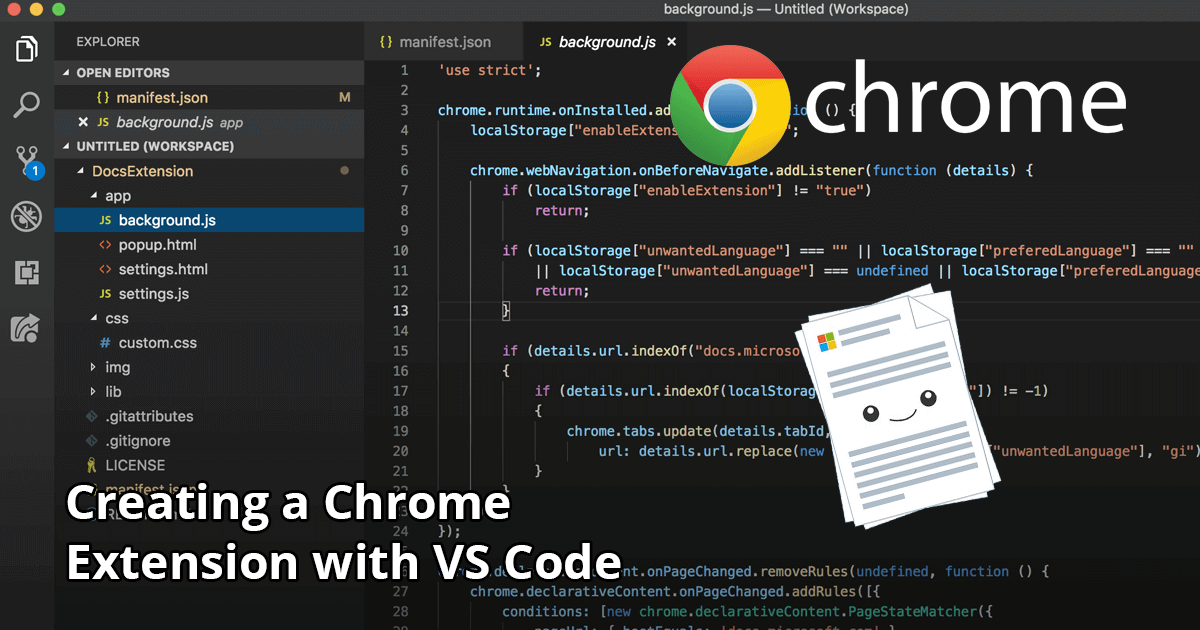 Creating a Chrome Extension with VS Code