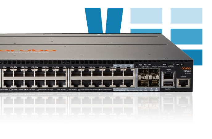 HPE Aruba JL322A 2930M 48G POE+ 1-Slot Managed 48 Ports Switch Specs and Pricing