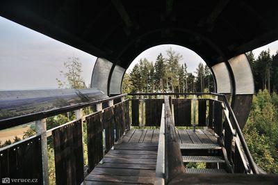Rozhledna Strážný vrch na Hřebečovském hřbetu
