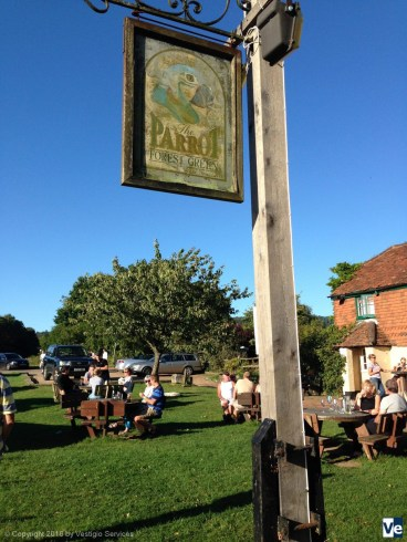 Пасторальная Англия. Pub the Parrot in Forest Green, Surrey