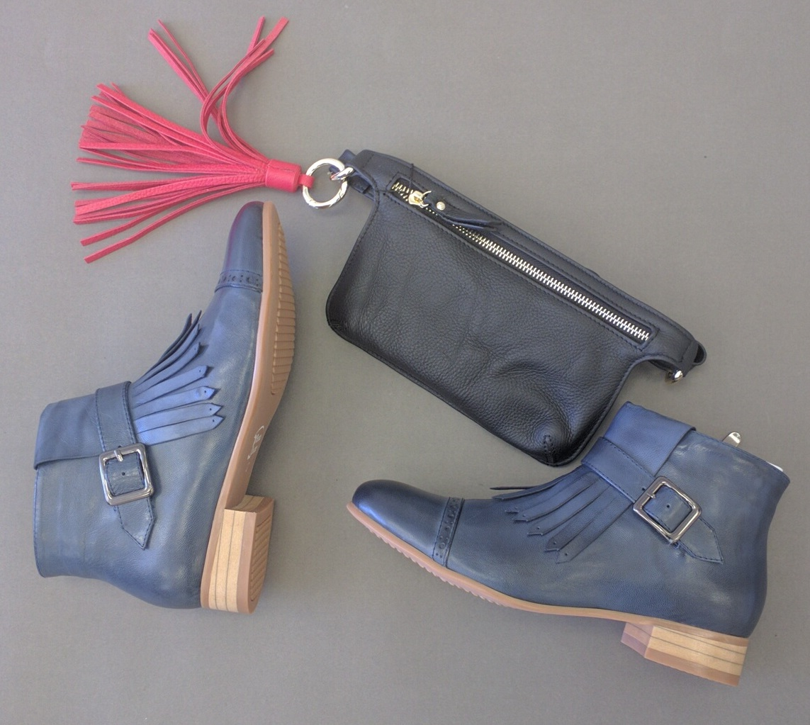 Style this season with unique accessories - tassels, belt bags and booties!
