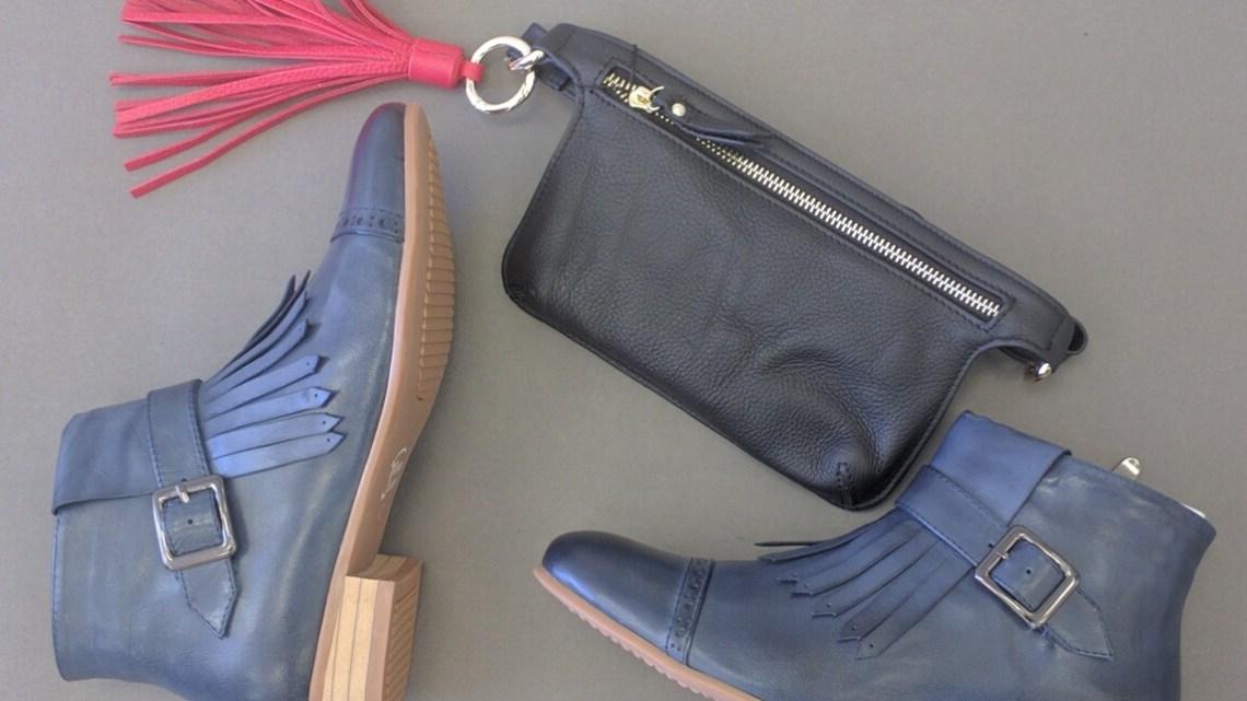 Leather handbags tassels waistbag
